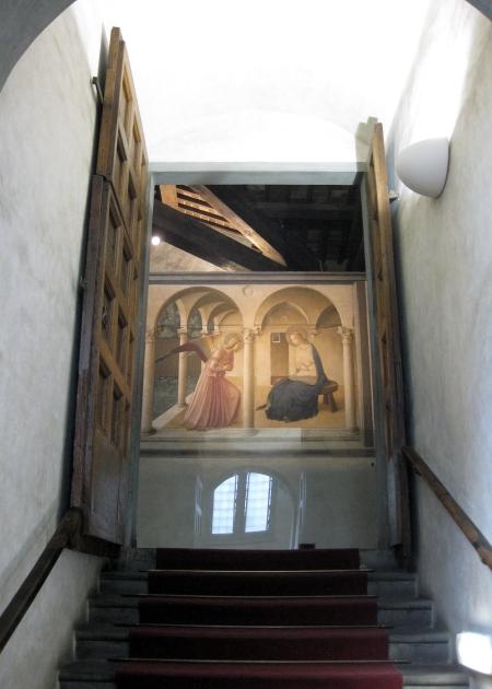 "Bức ""Lời báo tin"" của Fra Angelico trong tu viện San Marco"
